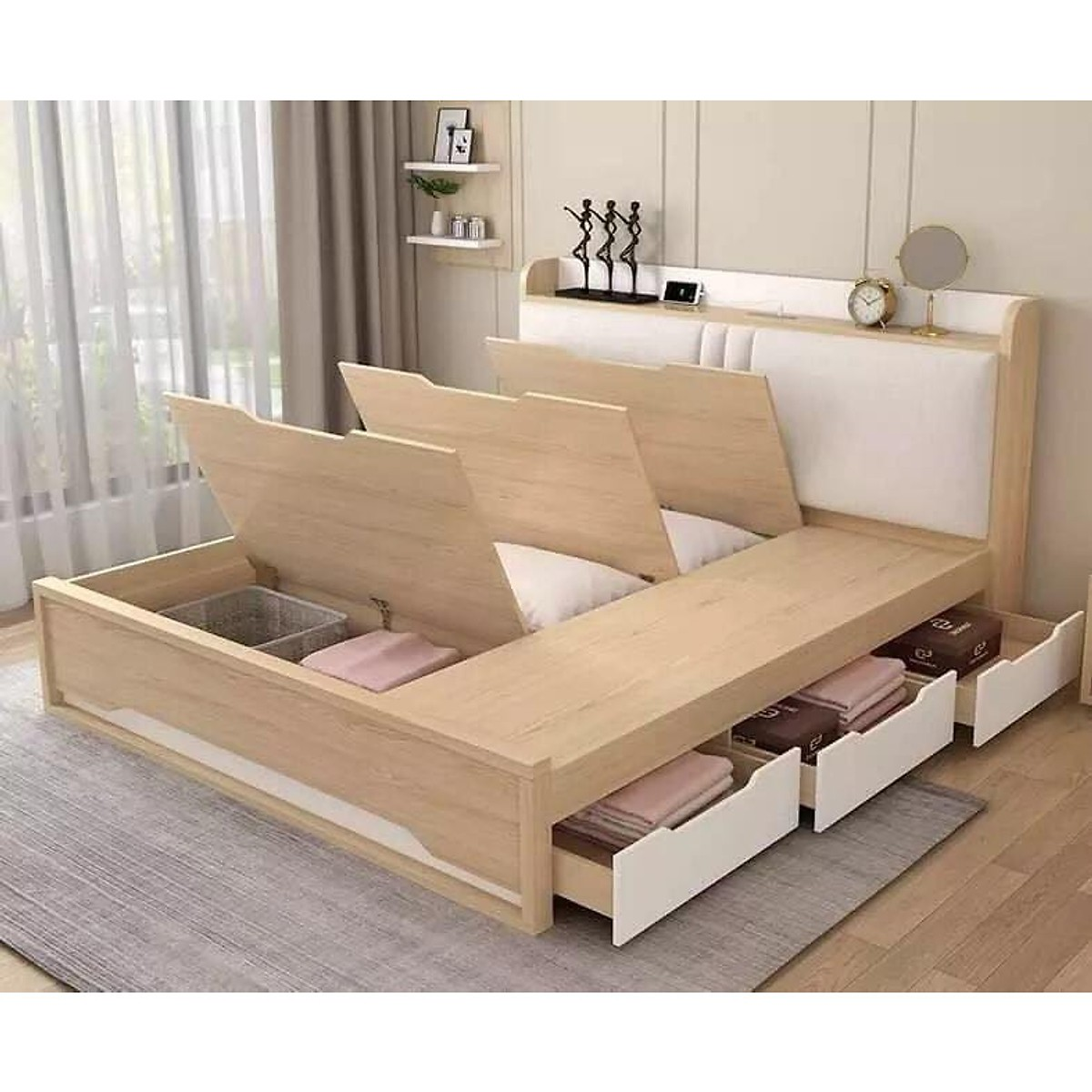 Giường Ngủ Thông Minh OHAHA ( Rộng x Dài: 180cm x 200cm ) - Giường ngủ  Thương hiệu OHAHA.VN | SieuThiChoLon.com