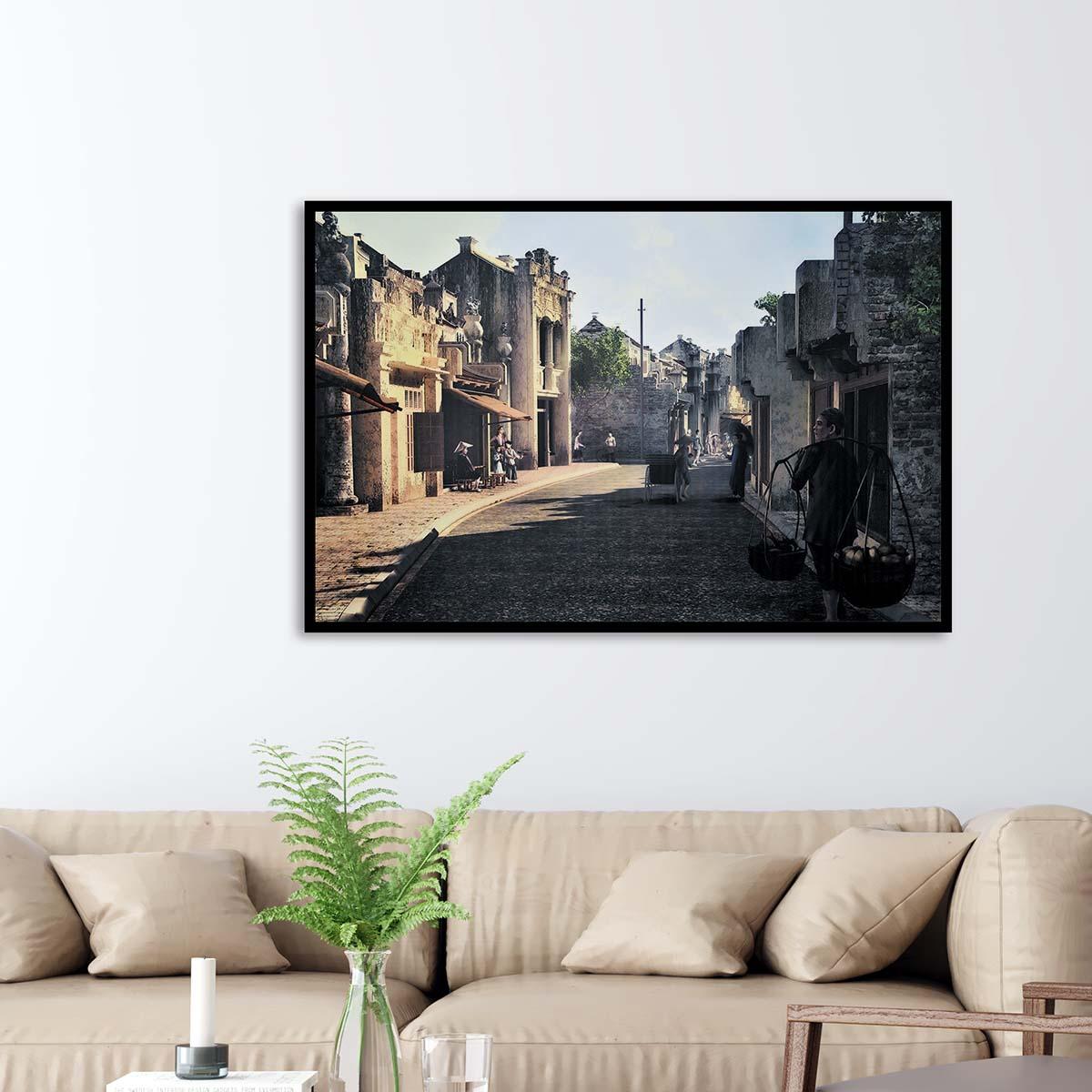 Tranh treo tường phong cảnh Hà Nội xưa - HNX011