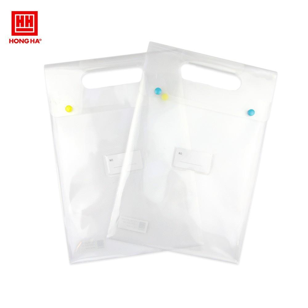 Túi tài liệu dọc 2 cúc S16 A4 Hồng Hà (6624)