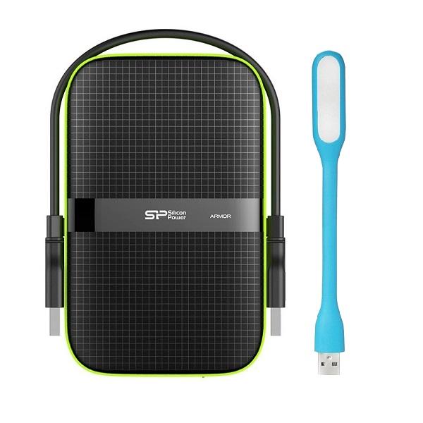 Ổ Cứng Di Động Silicon Power Armor A60 1TB - USB 3.1 gen 1 Hàng chính hãng + Tặng Đèn Led