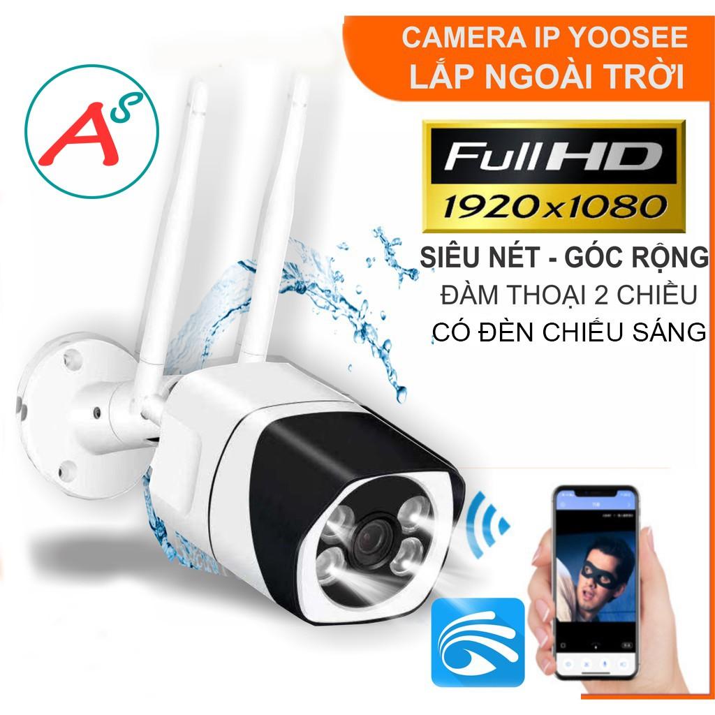 Camera IP Wifi Trong nhà Ngoài trời Yoosee 9104A FullHD 1080P + đàm thoại 2 chiều + Ban đêm có màu + Thẻ nhớ 32G - Hàng Nhập Khẩu