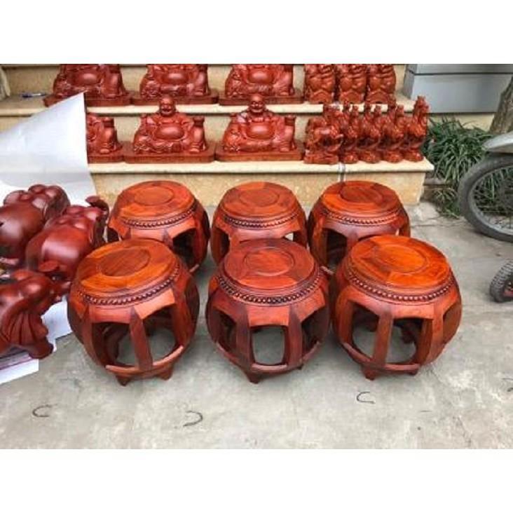 Đôn Trống gỗ Hương hàng cao cấp mặt 28cm giá rẻ