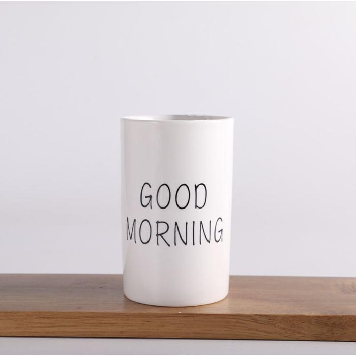 Ly cốc sứ Basic tráng gương trắng 300ml
