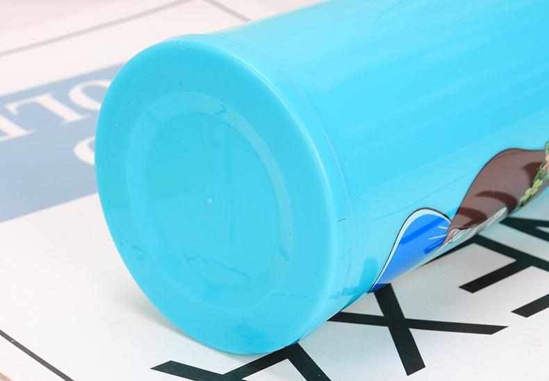Bình Nước Thủy Tinh Bọc Nhựa Cách Nhiệt Hình Chibi Love Nắp Cài 450ml Siêu Hot