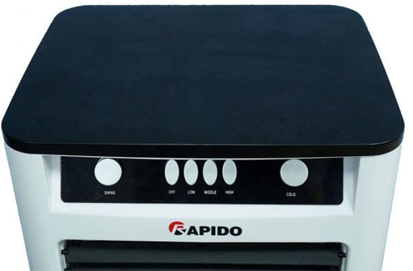 Quạt điều hòa không khí Rapido TURBO 3000M (Điều khiển cơ) (Có thể lắp thêm tấm lọc nano) - Hàng Chính Hãng
