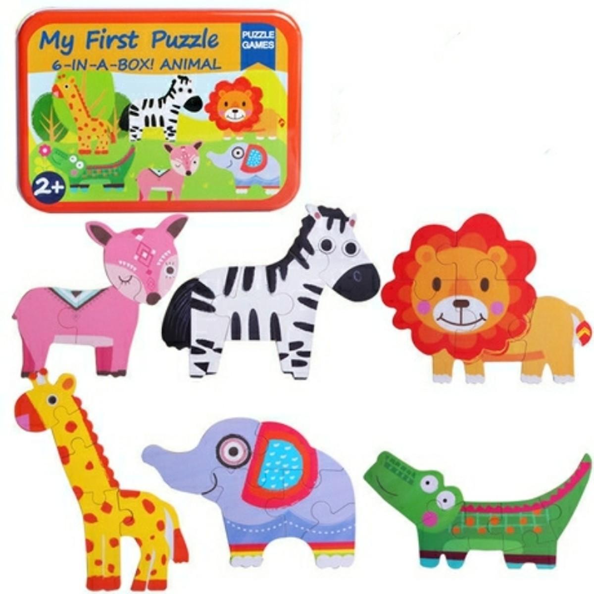Bộ ghép hình nhận biết động vật cơ bản 6in1 PN- đồ chơi trí tuệ