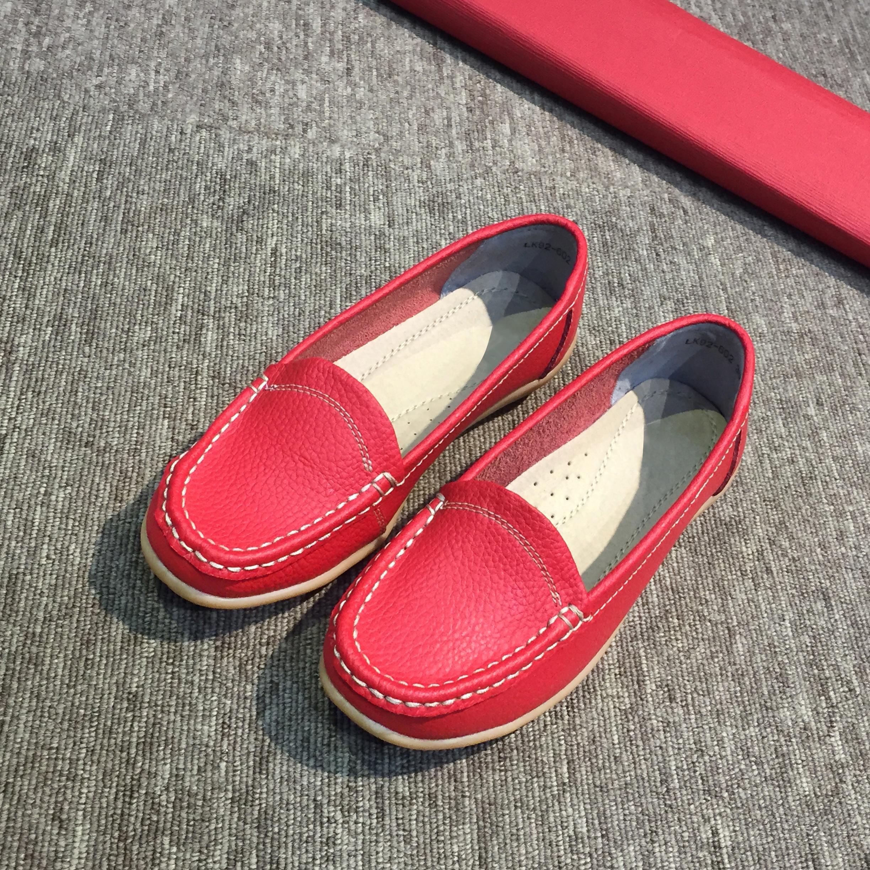 Giày Thái Lan moca nữ, giày lười nữ da bò mềm màu đỏ đậm CSB92-602 2020 Sr7