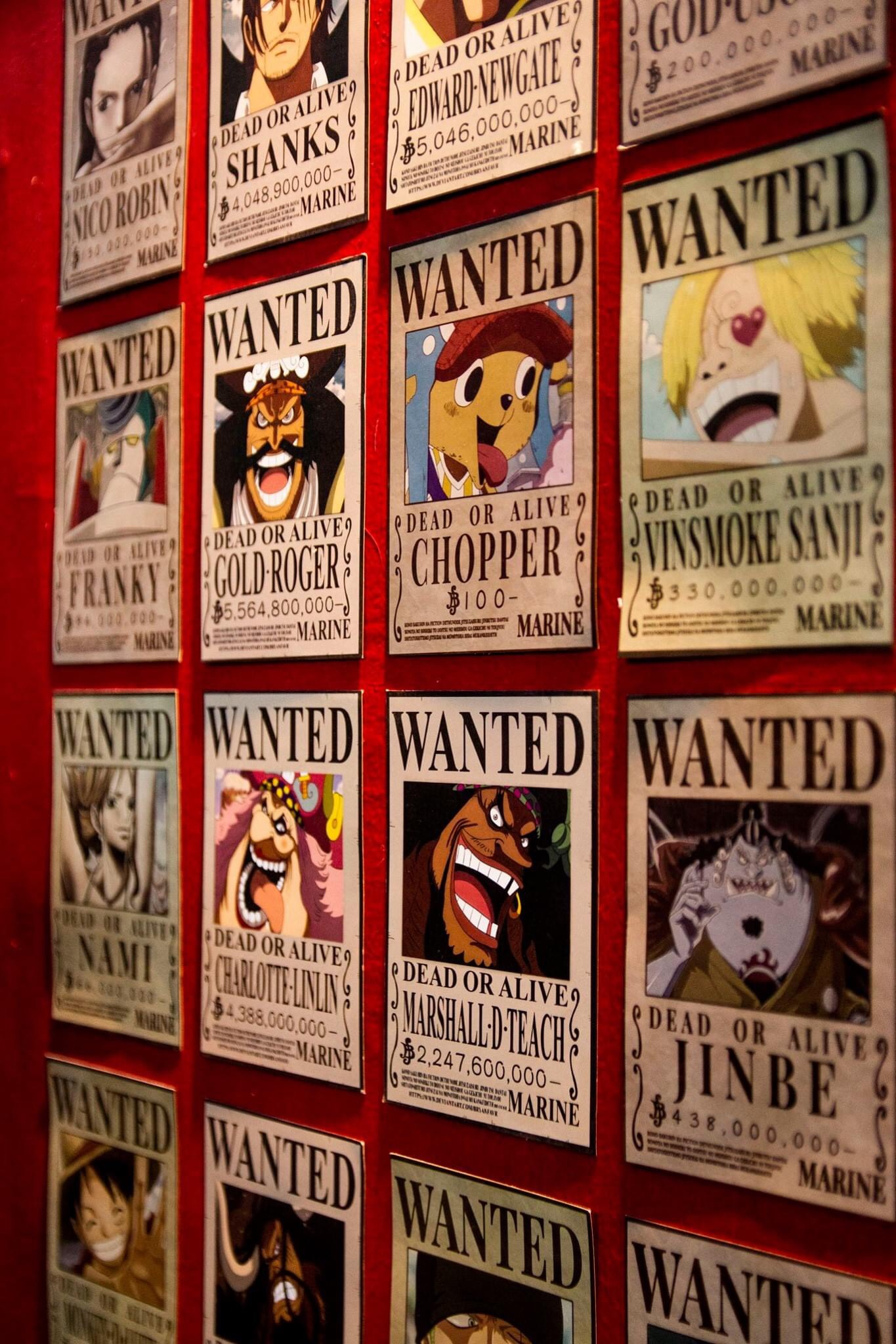 POSTER ảnh dán ONE PIECE - WANTED set 16 tấm cỡ A5