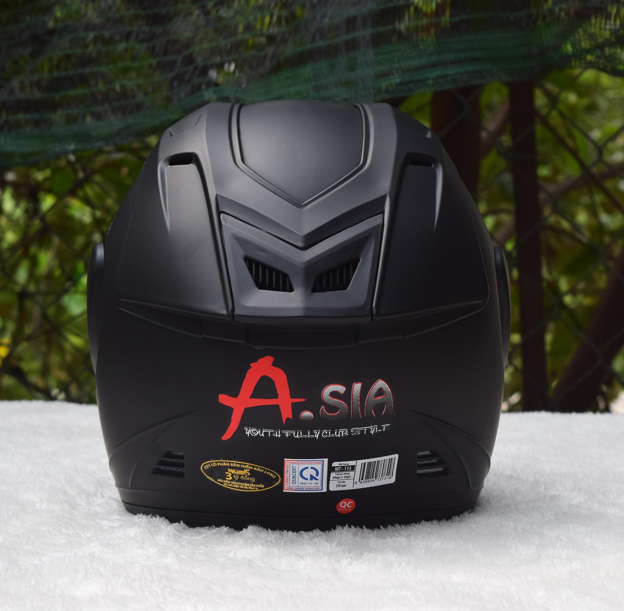 Mũ Bảo hiểm Asia M115 Chính Hãng - Kính Khói