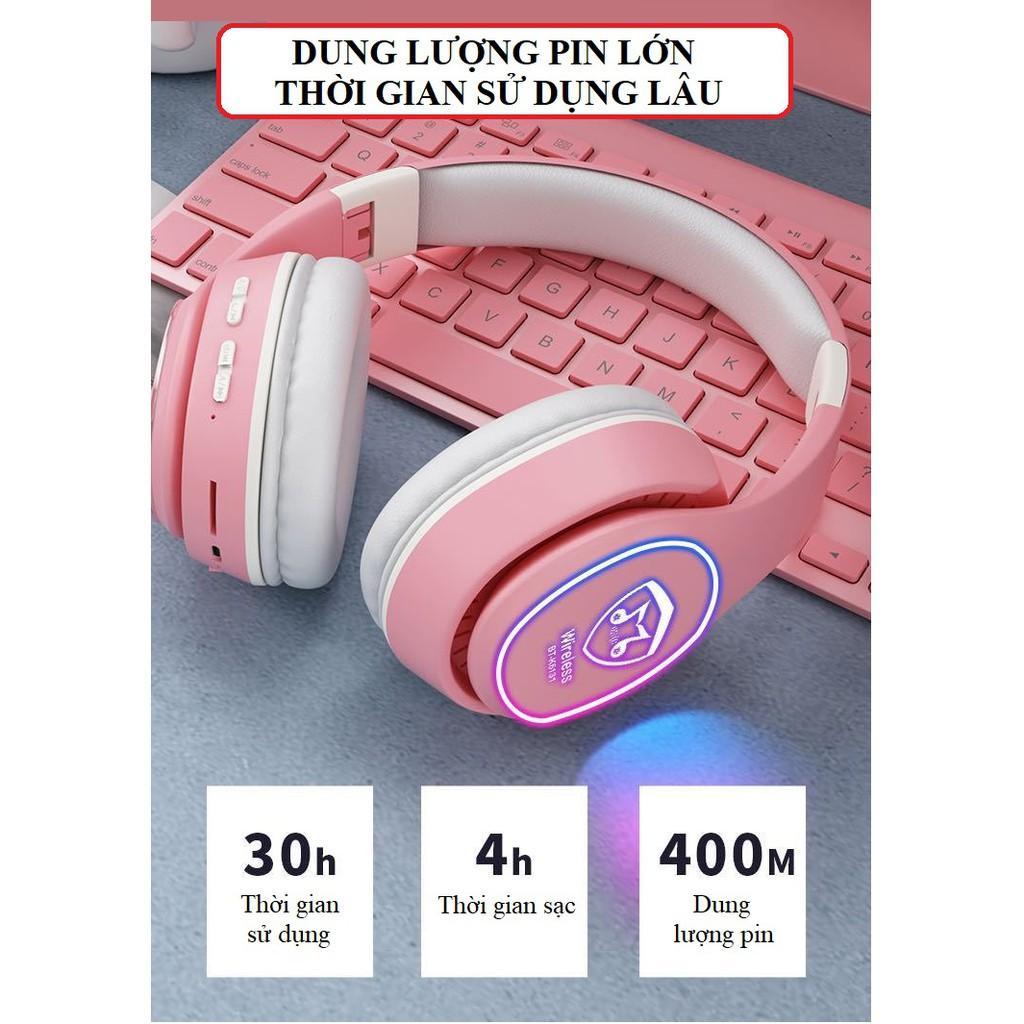 Tai Nghe Chụp Tai ️️ Tai Nghe Bluetooth 5.0 Âm Thanh Sống Động, Chân Thực - Tai Nghe Thiết Kế Nhỏ Gọn K6131