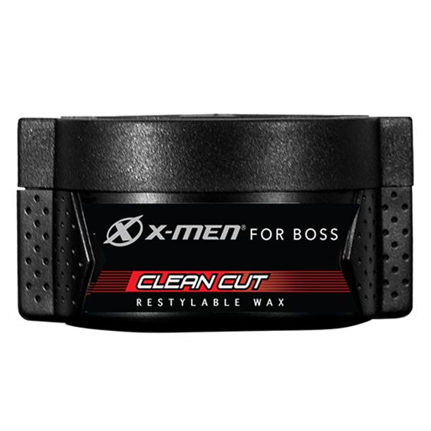 Sáp vuốt tóc X-Men For Boss Wax CLEAN CUT - Rẽ ngôi gọn gàng 70g