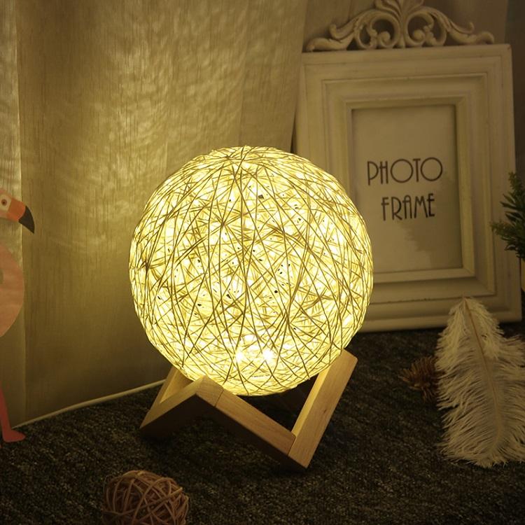 Đèn ngủ đa năng đẹp hình cầu ( Tặng kèm nút kẹp cao su giữ dây điện )