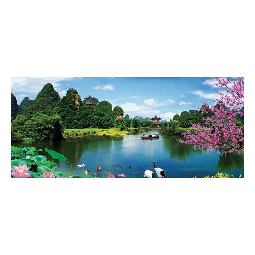 Tranh Dán Tường Sơn Thủy 3D ST0174