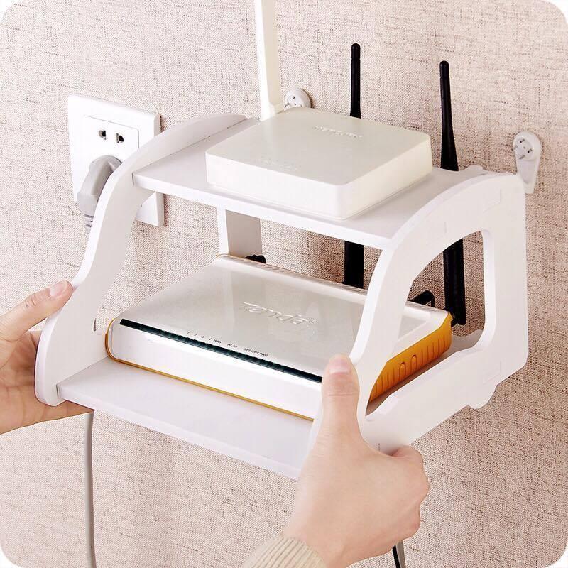 [Combo]Kệ trang trí mini 2 tầng đựng wifi xiaomi + móc treo tường +kệ điện thoại