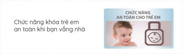 Máy giặt sấy AQUA AQD-DH1050C N, giặt 10.5kg, sấy 7kg,Invertercó Chức năng khóa an toàn trẻ em