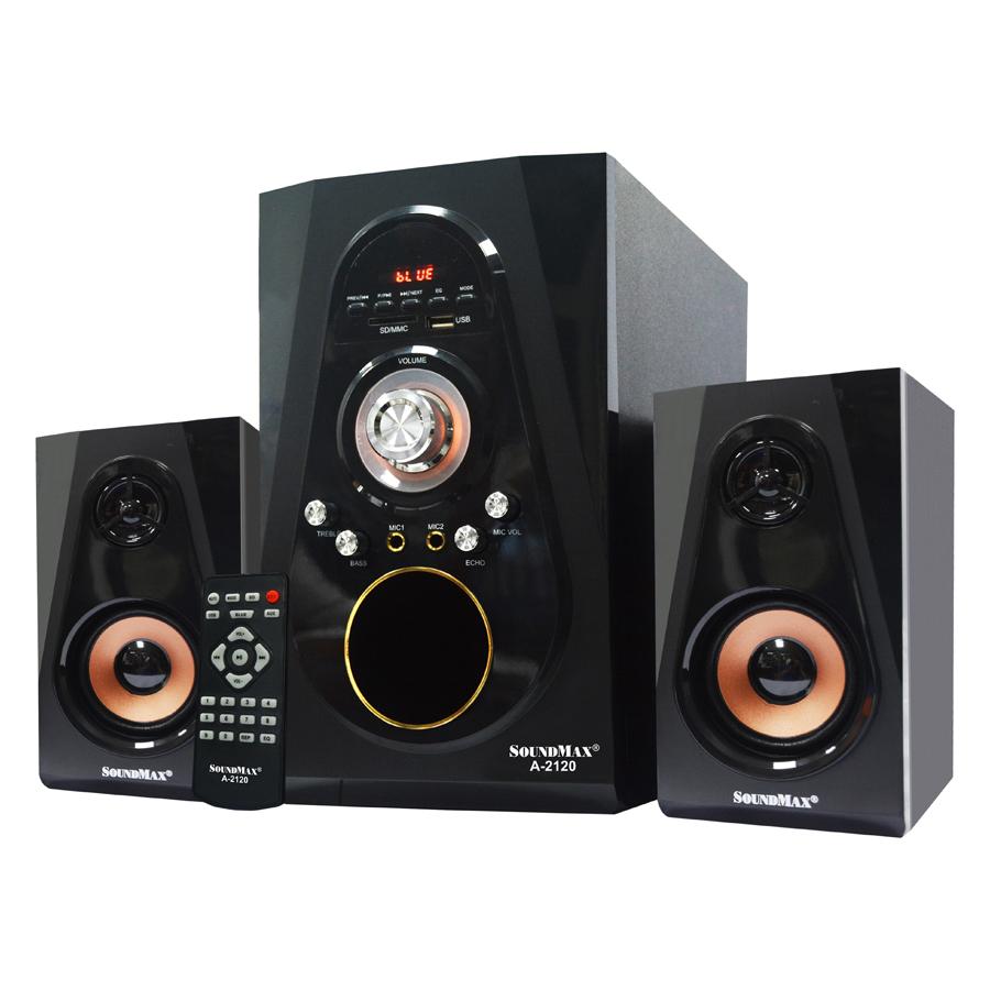 Loa Vi Tính Soundmax A-2120/2.1 Tích Hợp Bluetooth 4.0 (60W) - Hàng Chính Hãng