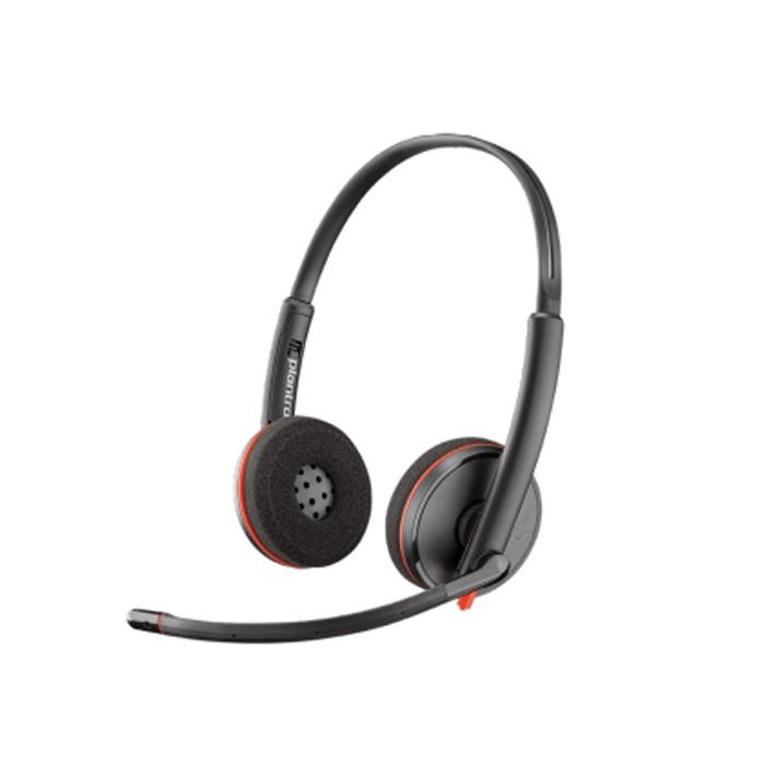 Tai nghe chụp tai có dây khử tiếng ồn hỗ trợ đàm thoại Plantronics Blackwire C3220 USB-A - Hàng chính hãng