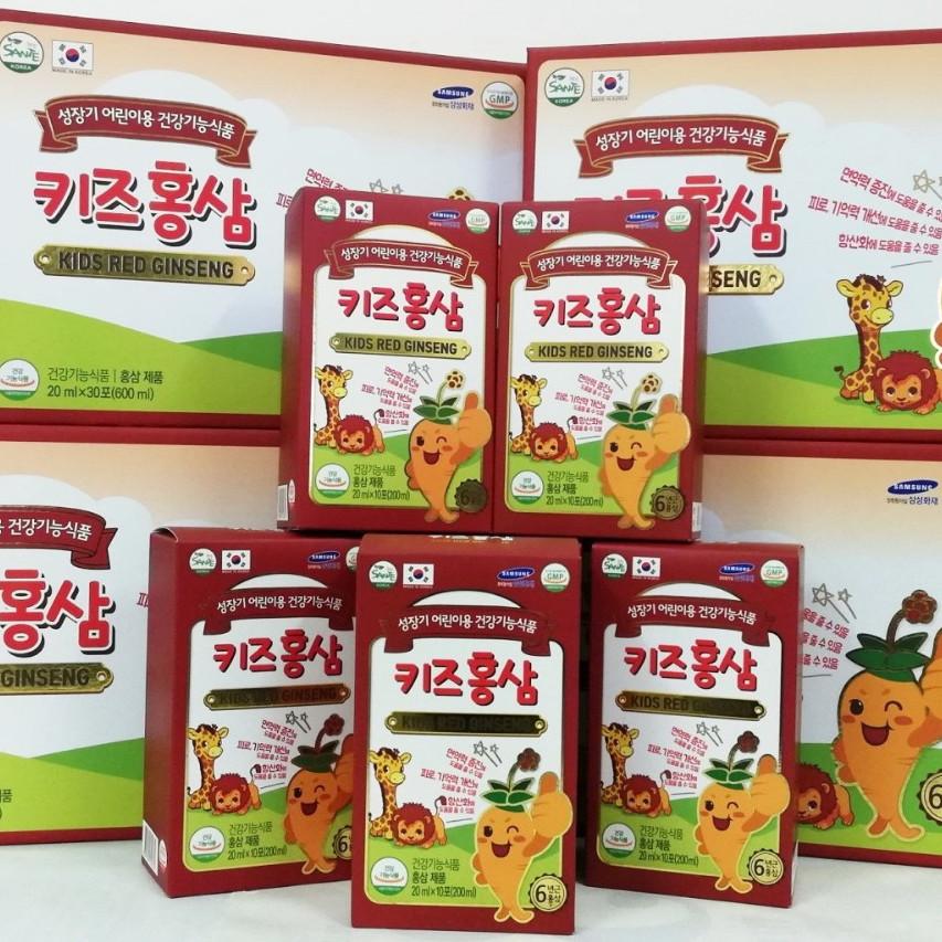 Combo Sâm Trẻ Em Red Kid Ginseng tặng 1 hộp kẹo mềm Hồng Sâm Hàn Quốc