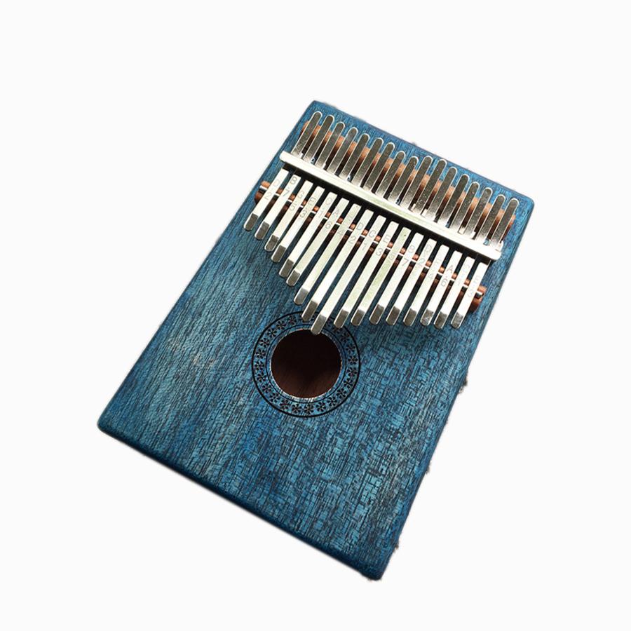 Đàn Kalimba 17 phím Gỗ Vintage Xanh Dương Tặng Kèm Khóa Học Miễn Phí