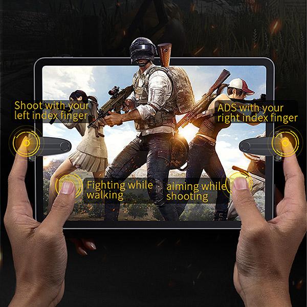 Bộ 2 nút bấm hỗ trợ chơi game PUBG dành cho iPad/máy tính bảng Baseus - Hàng chính hãng