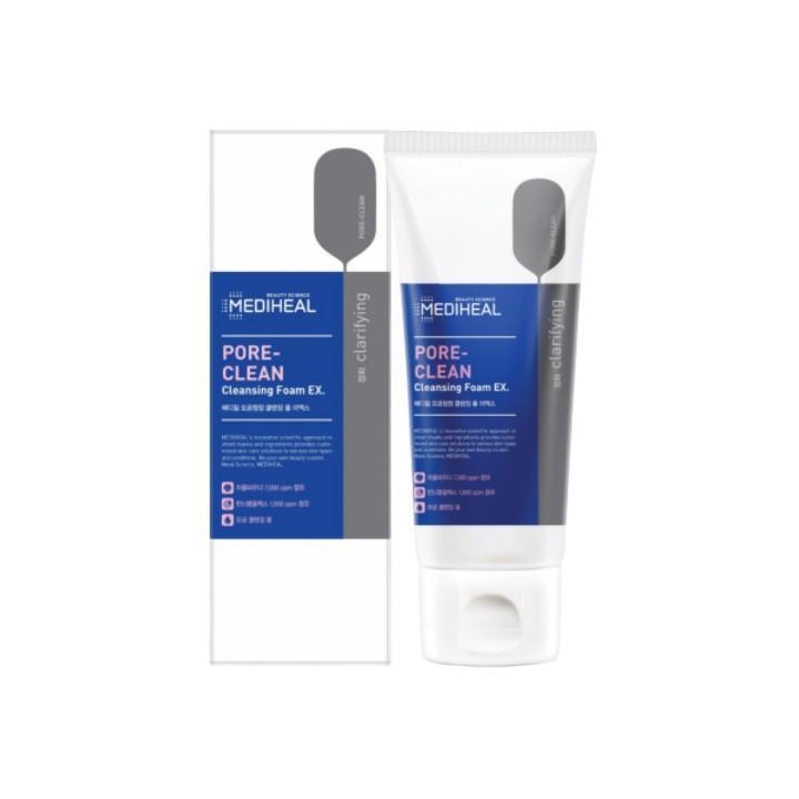 Sữa Rửa Mặt Than Hoạt Tính Phiên Bản EX MEDIHEAL PORE CLEAN CLEANSING FOAM170ML