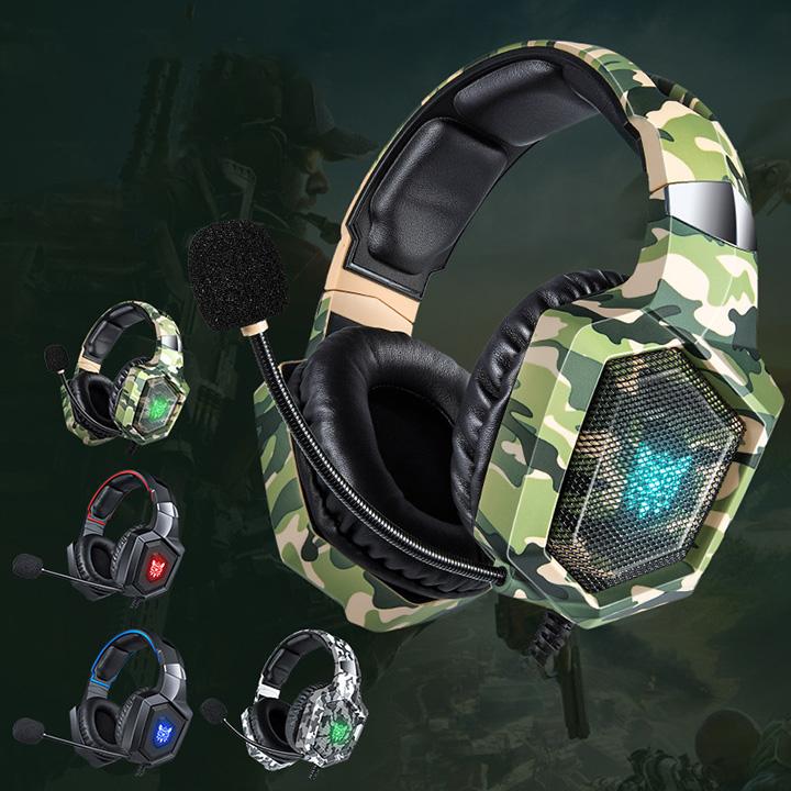 Tai nghe gaming - Tai nghe chụp tai( Headphone gaming) K8 có mic dành cho game thủ nghe nhạc xem phim chơi game cực đã