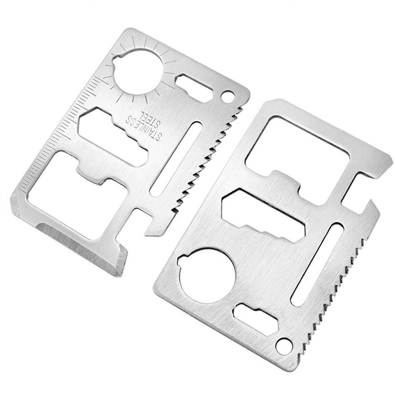 Miếng Thép Đa Năng 11 Công Dụng Thẻ Phượt Đa Năng - Steel Credit Card Survival Tool