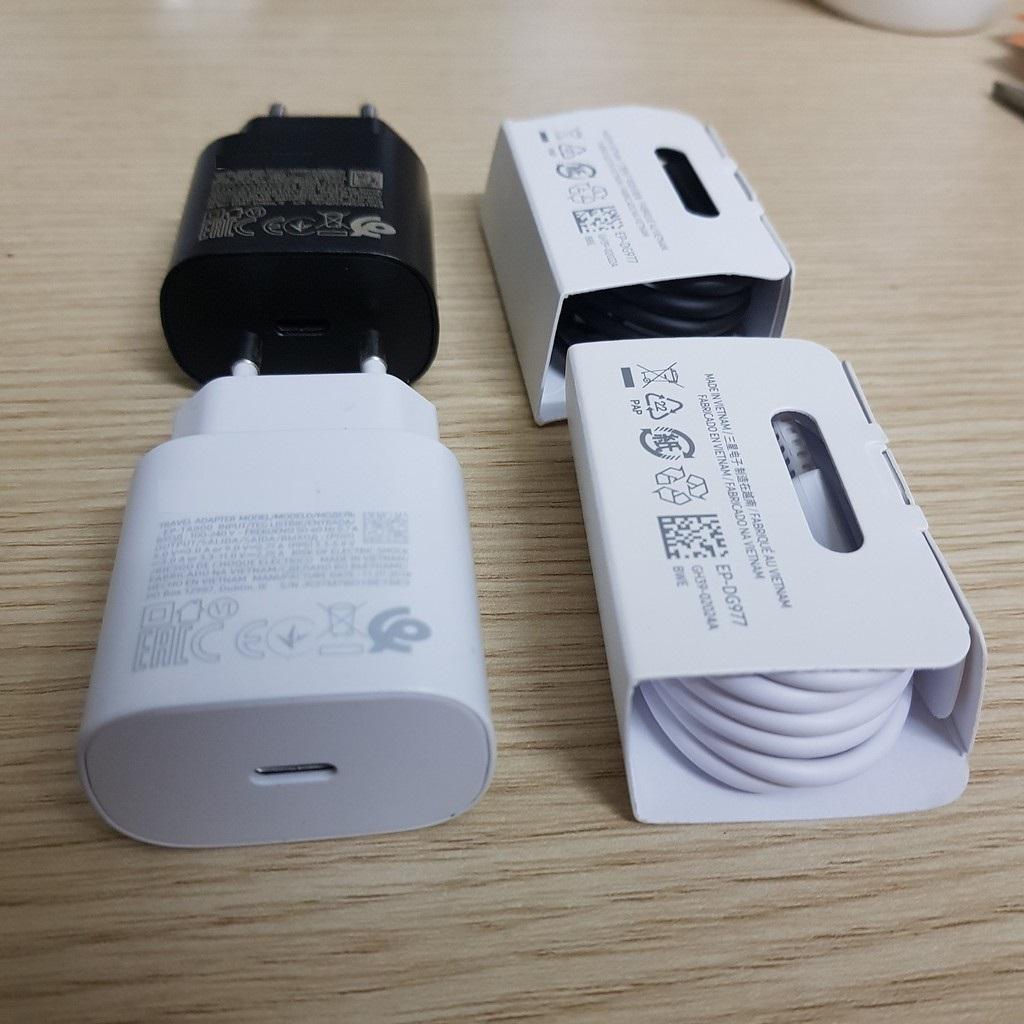 Combo Sạc cáp nhanh 25w Type C dùng cho Samsung Note10 / S10plus 5G / A80, OPPO, VIVO, HUAWEI