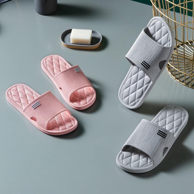 Dép Đi Trong Nhà, Văn Phòng, Nhà Tắm Chống Trơn Trượt mềm êm chân Unisex Nam Nữ đều dùng được
