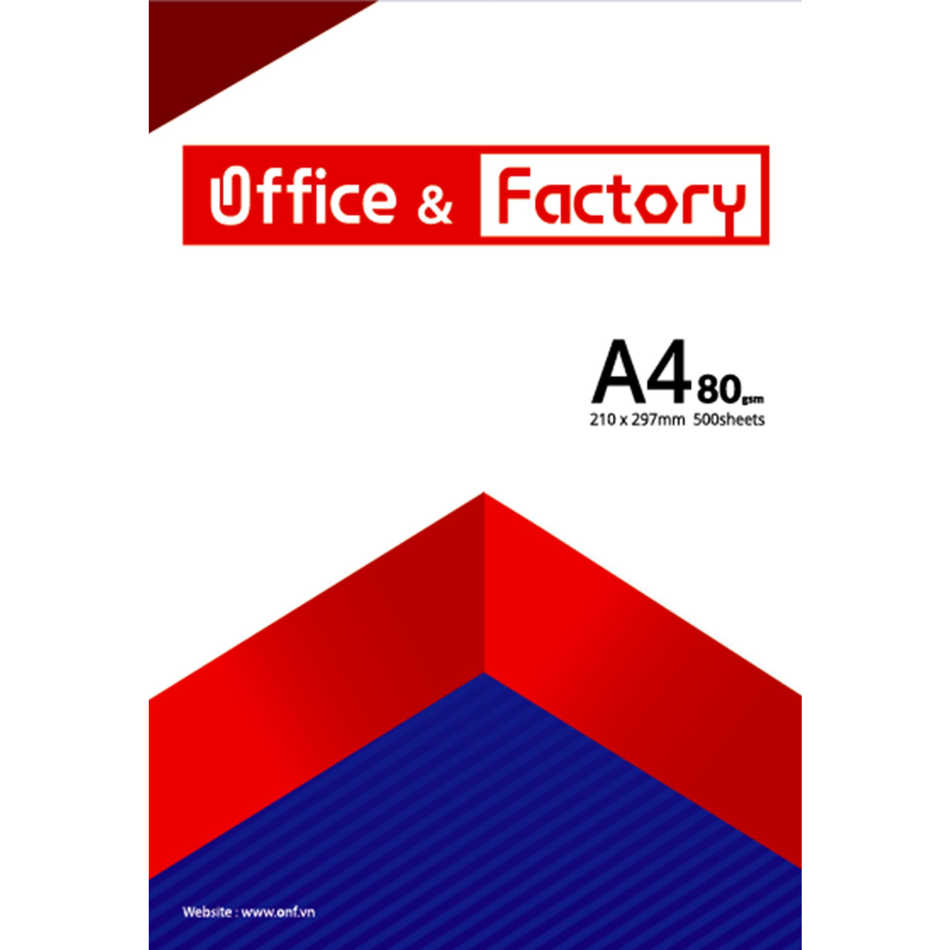 Combo 5 Ram Giấy In A4-80gsm Office & Factory