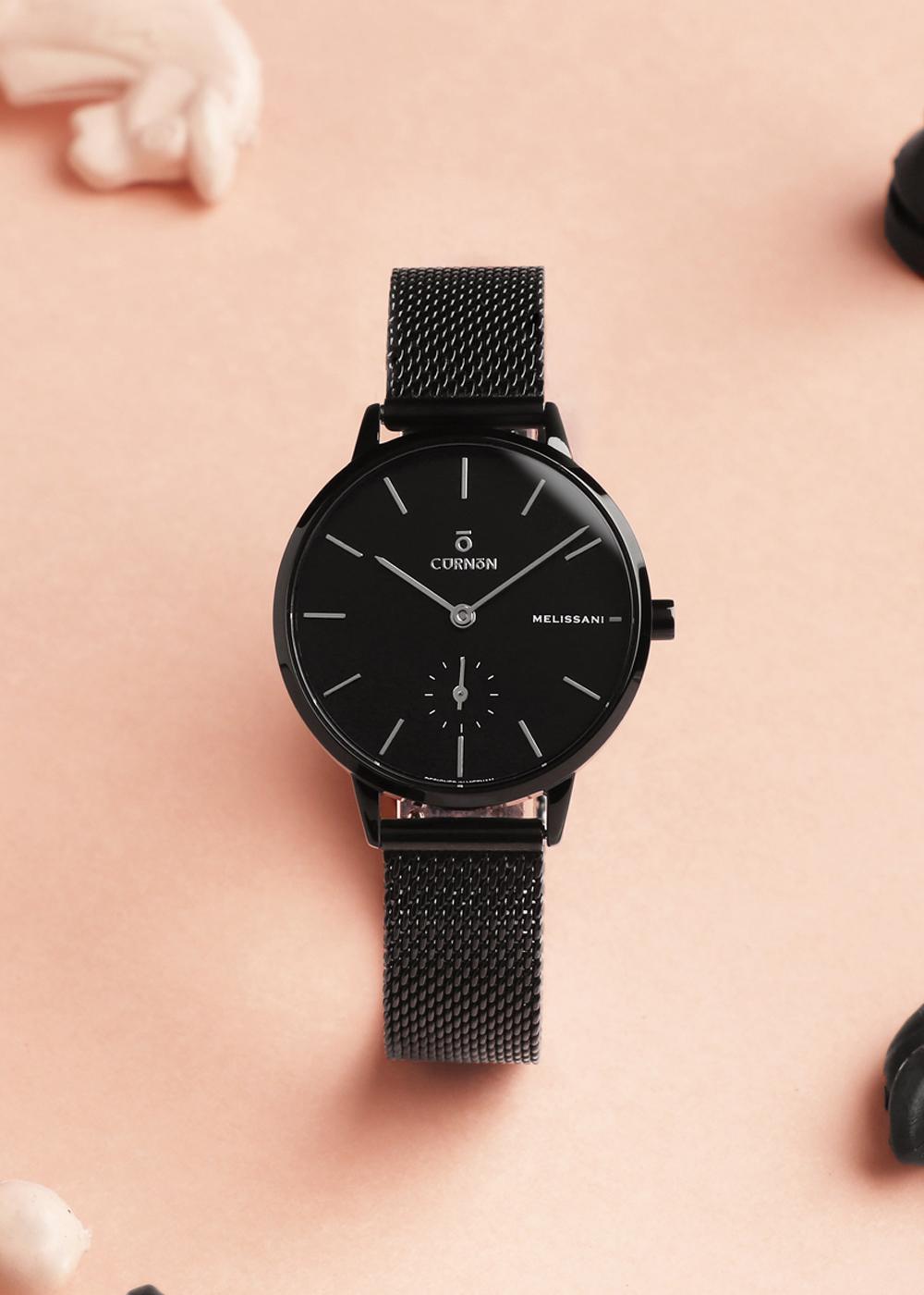 Đồng hồ nữ Dây Kim Loại Curnon Melissani Moon Kính Sapphire (32mm)