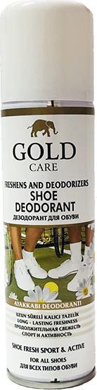 Combo chăm sóc giày gồm xi nước đánh giày GoldCare - GC2001 và xịt khử mùi giày GC3003