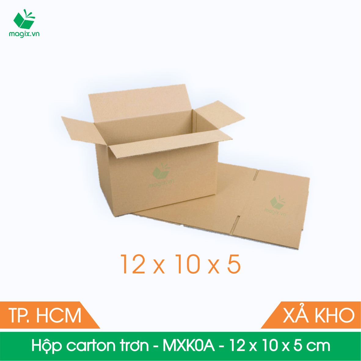MXK0A - 12x10x5 cm - 20 Thùng hộp carton