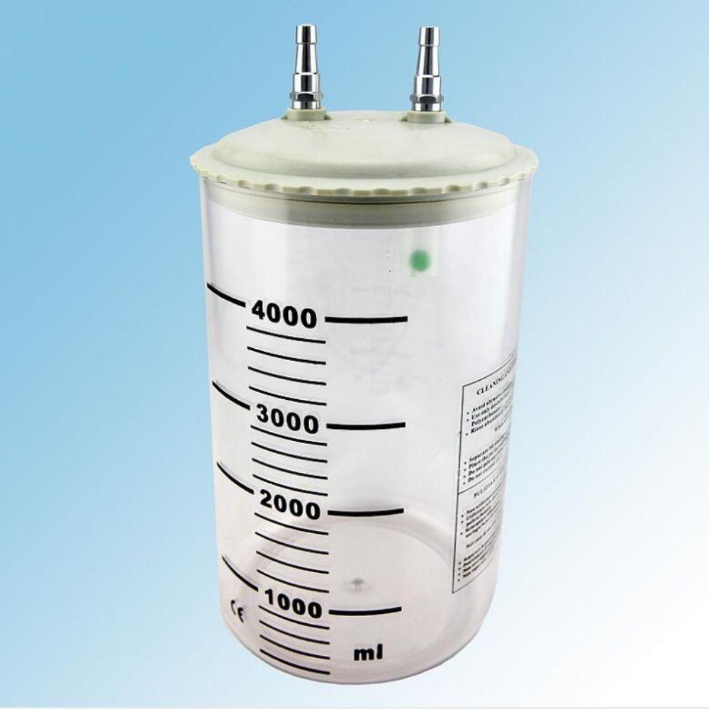 Bình hút dịch Kaipo 2000ml - Trang bị hệ thống van, nắp an toàn, chống tràn hiệu quả - Đạt tiêu chuẩn ISO 9001, CE