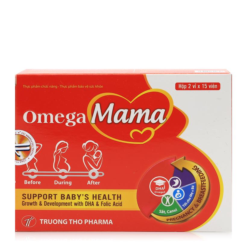 Thực phẩm bảo vệ sức khỏe bổ sung vitamin tổng hợp Omega Mama -Hộp 3 vỉ