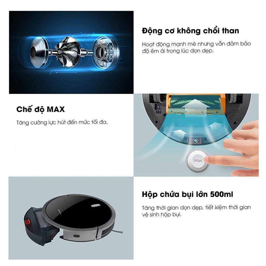 Robot Hút Bụi Lau Nhà Tự Động Fuji Luxury T3 - Hàng Chính Hãng