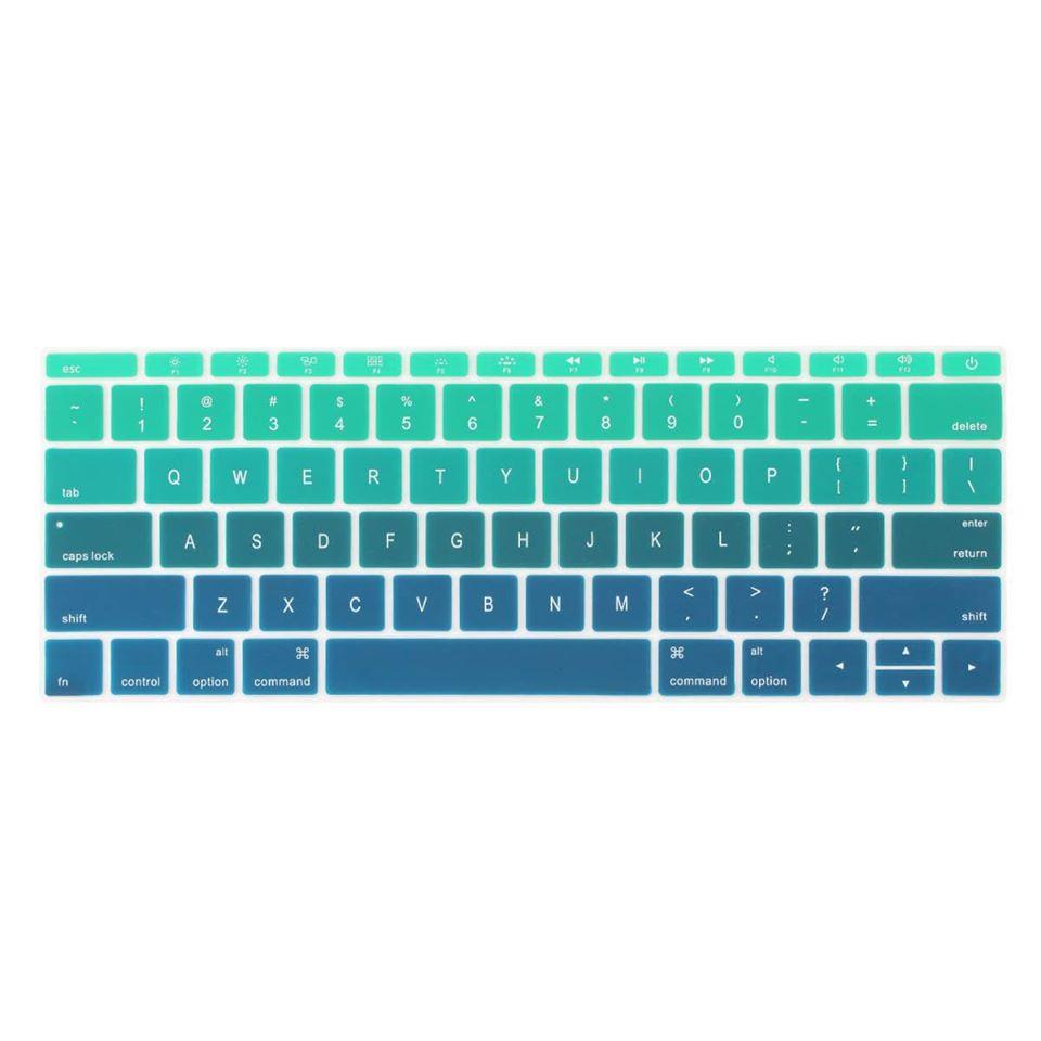 Tấm phủ phím bằng silicon cho Macbook chống bụi, chống nước nhiều màu
