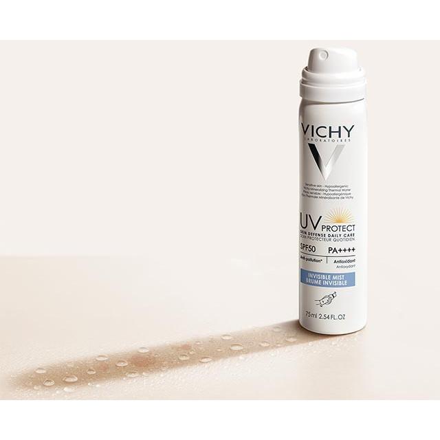 Xịt chống nắng chống ô nhiễm Vichy Ideal Soleil Daily Mist SPF50 75ml
