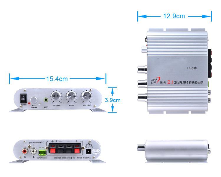 Bộ Khuếch Đại Âm Thanh Ampli Mini 838