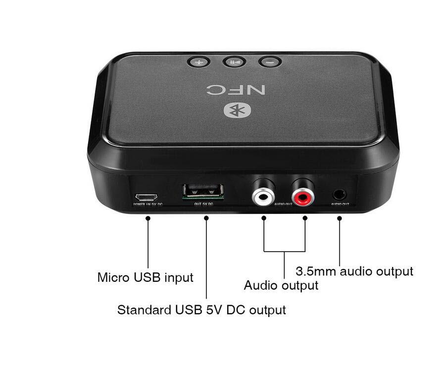 Thiết Bị Nhận Bluetooth, NFC Cho Loa Và Amply Phiên bản mới nhất + Củ sạc 5V