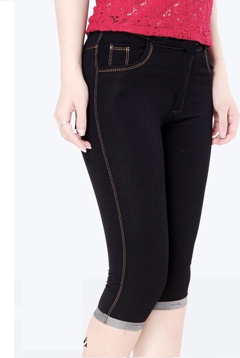 Quần Legging lửng thun giả Jeans cao cấp