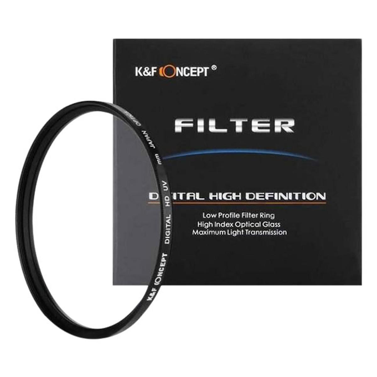 Kính Lọc K&F Concept Filter UV Digital HD - Japan Optic - Size 86mm - Hàng Nhập Khẩu