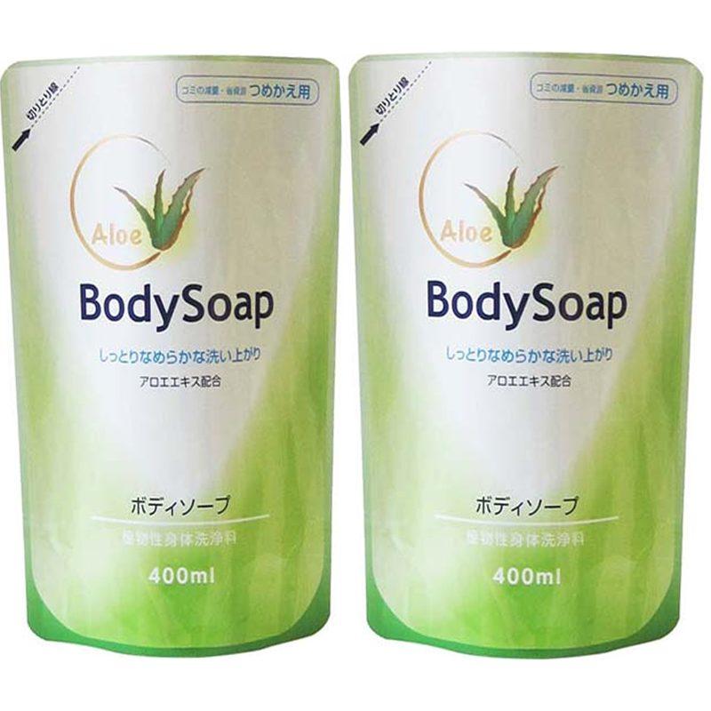 Combo 2 túi Sữa tắm trắng da, tinh chất Lô Hội Daiichi BodySoap 400ml hàng Nhật Nội Địa