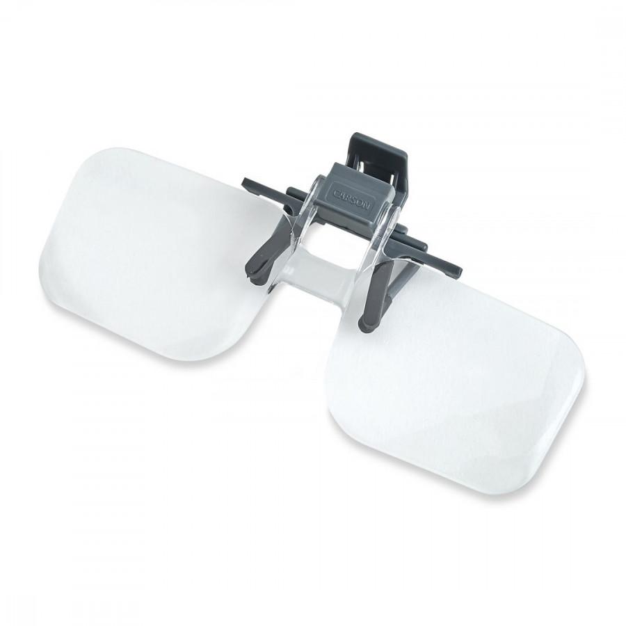 Kính lúp kẹp mắt kính Carson OD-14 Clip&Flip 2x - Hàng Chính Hãng