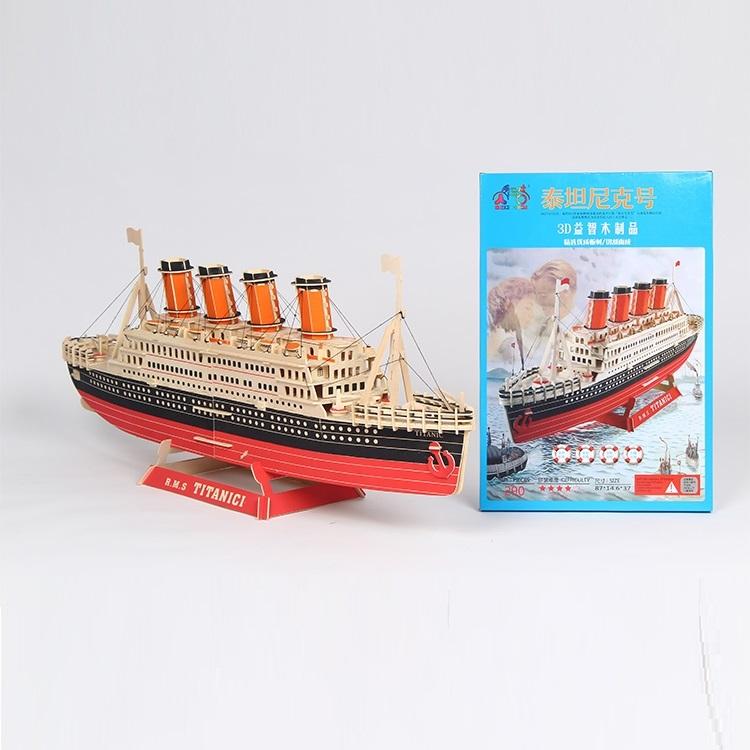 Đồ chơi lắp ráp gỗ 3D Mô hình Tàu RMS Titanic