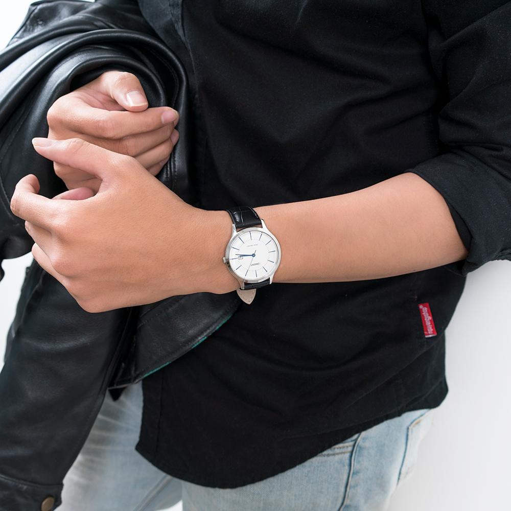 Đồng hồ nam ORIENT chính hãng RF-QD0006S10B Dây Da (Quartz)