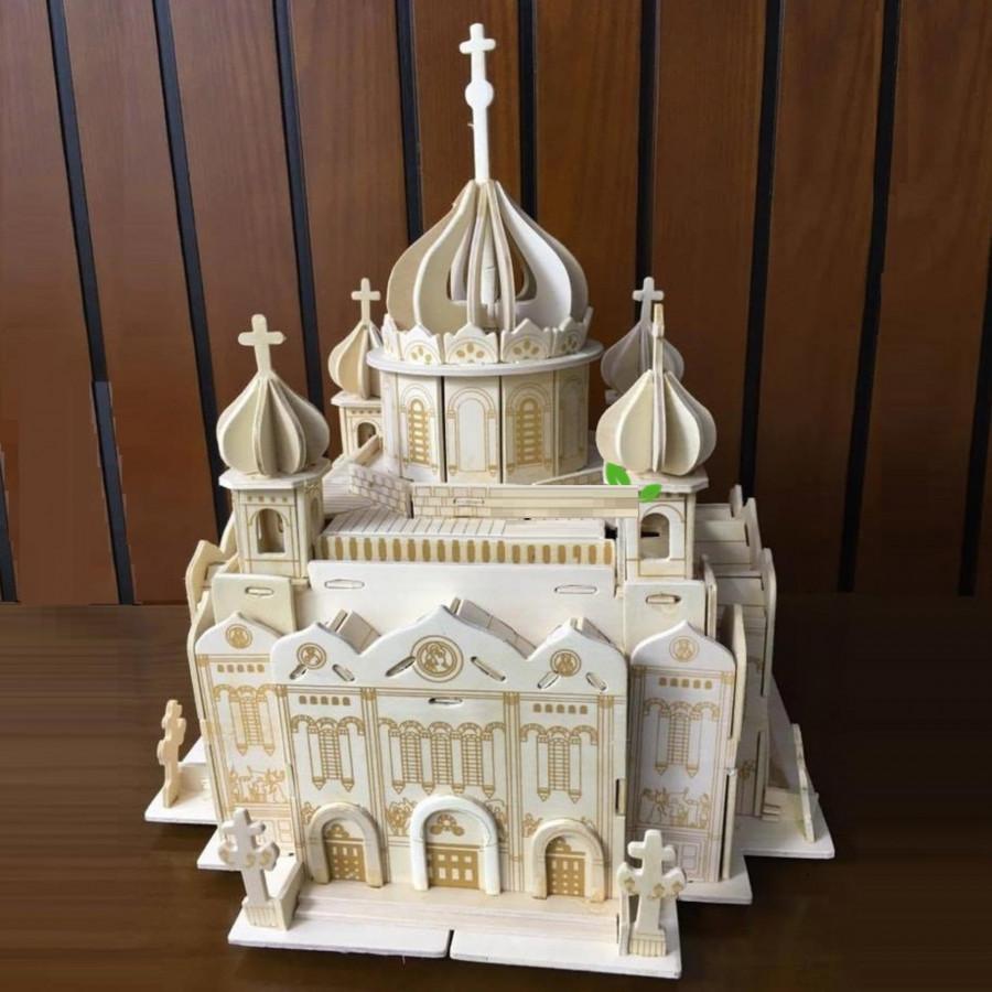 Đồ chơi lắp ráp gỗ 3D Mô hình Nhà thờ Chính tòa Chúa Kitô
