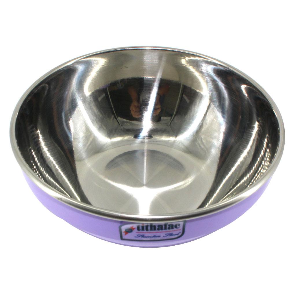 Combo 5 Tô Inox Màu Xanh Cách Nhiệt 2 lớp  đường kính 16 cm Tithafac