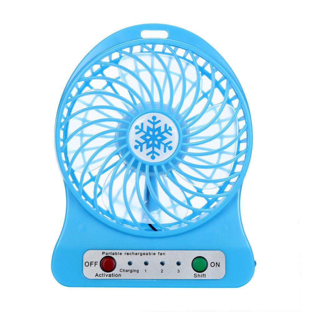 Quạt Portable fans cầm tay pin sạc 3 cấp độ mini hoa tuyết  PF66