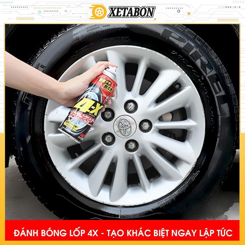 Chai Xịt Đen Bóng Lốp Bảo Vệ Lốp Xe Ô tô - 4x TIRE CLEANER ( SOFT99 - 470ml )